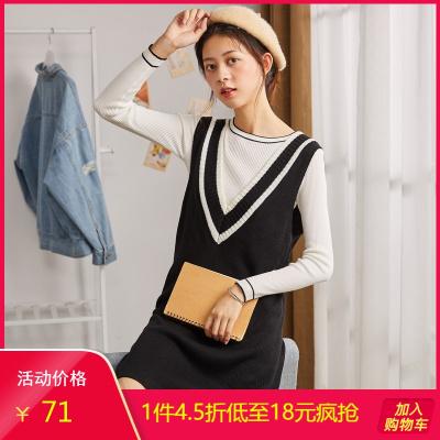 Tonlion 唐狮 123322105701 女士针织裙 71.1元