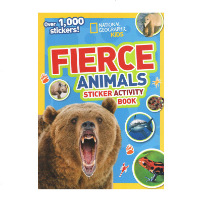 英文原版 美国国家地理 National Geographic Kids Fierce Animals Sticke