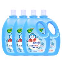 (24斤)白猫高效洁净 清新花香洗衣液瓶装3kg*4整箱销售 手洗机洗(苏宁定制)新老包装随机发货