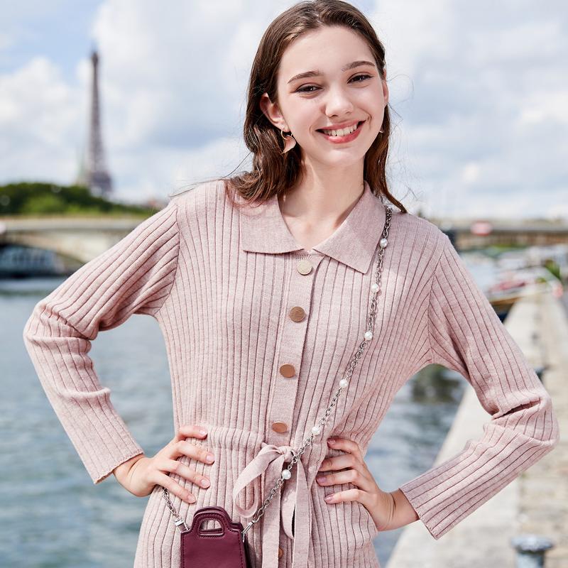 三彩 D946873M60 修身羊毛针织连衣裙